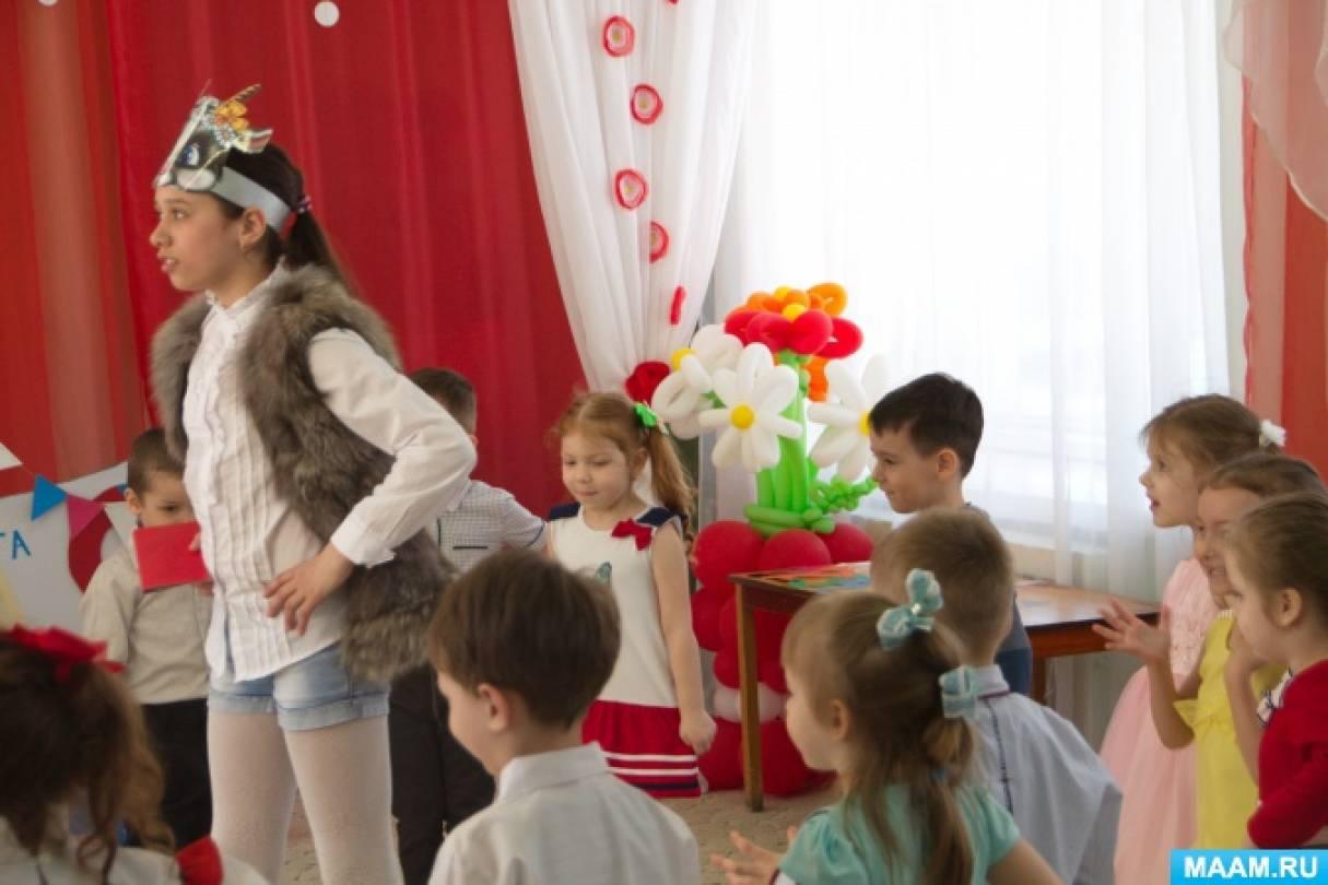 Фотоотчёт о театрализованном представлении для детей по сказке А. Прёйсена «Про козлёнка, который умел считать до 10»
