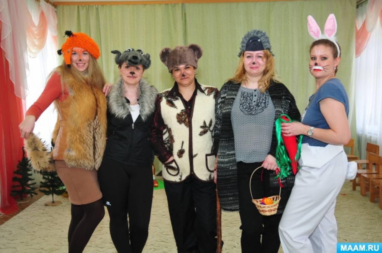 Фотоотчёт: «Показ русской народной сказки «Теремок» родителями для детей первой младшей группы»