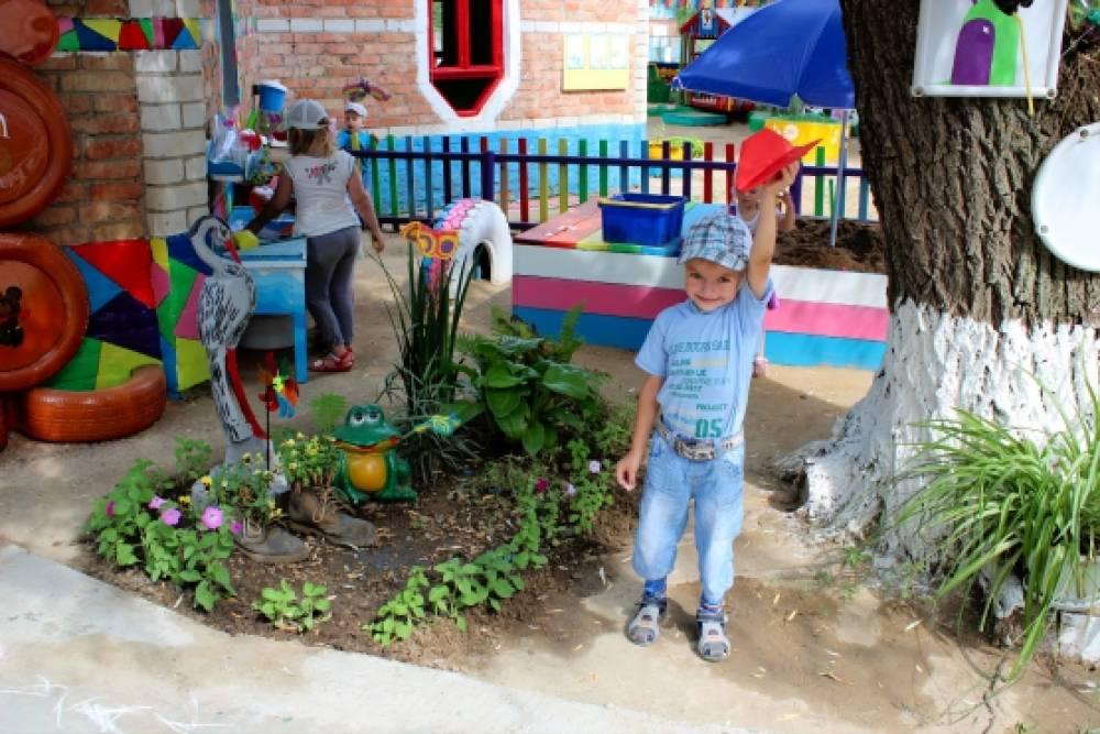 Детский сад ру оформление участков летом картинки