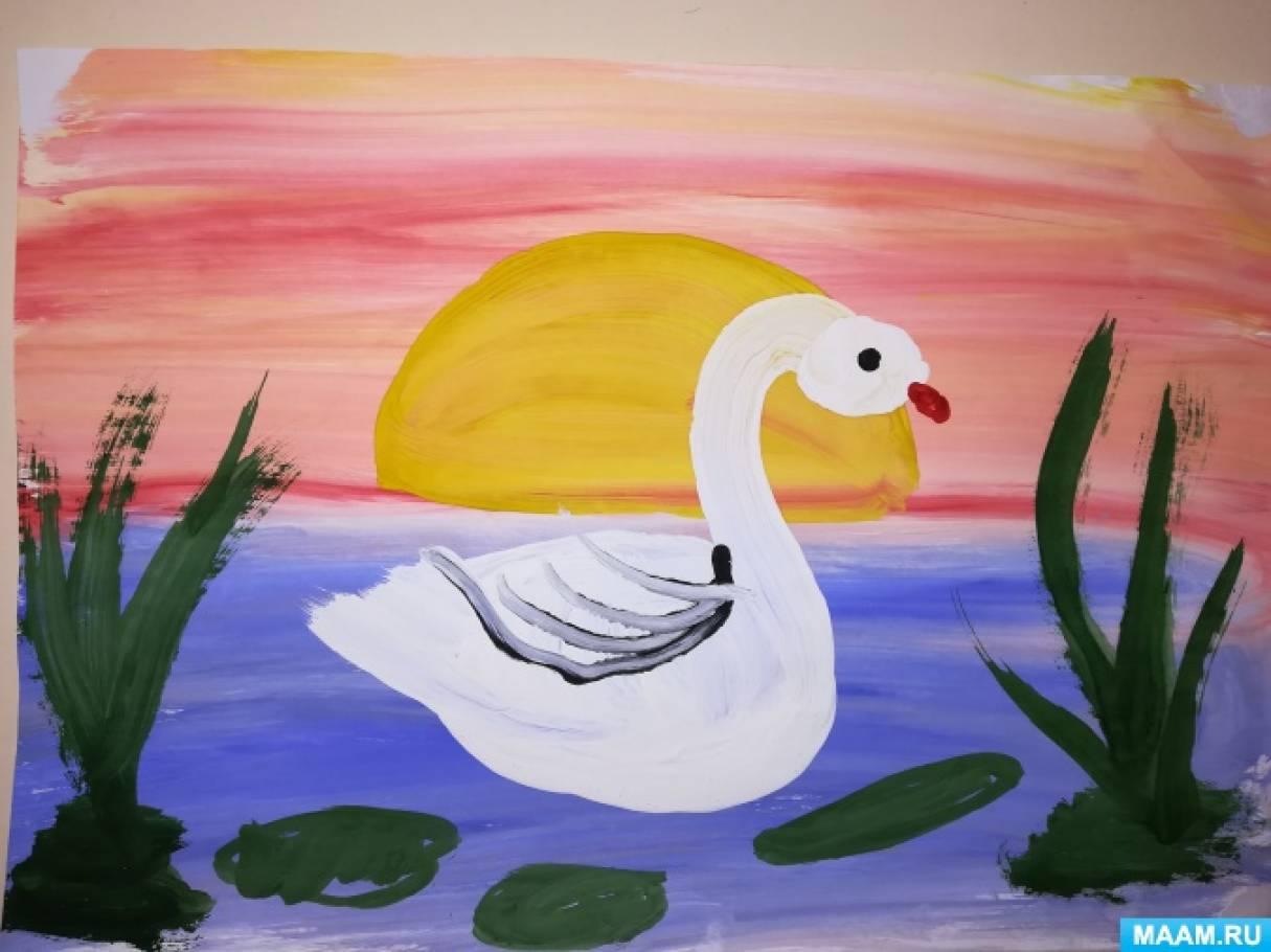 Картина «Лебедь на озере»