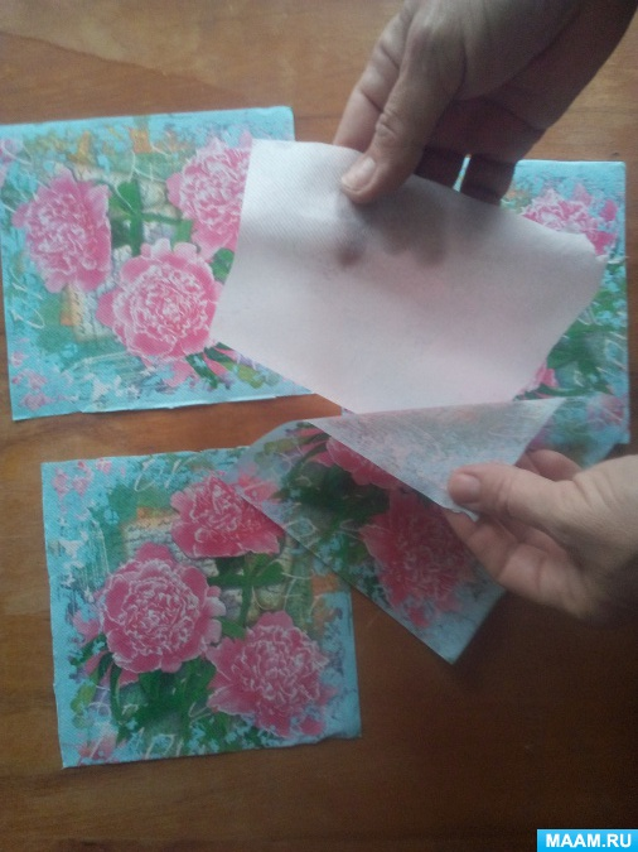 Картинки, открытка из салфеток видео
