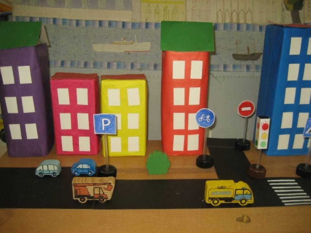 Макет городской улицы для детского сада