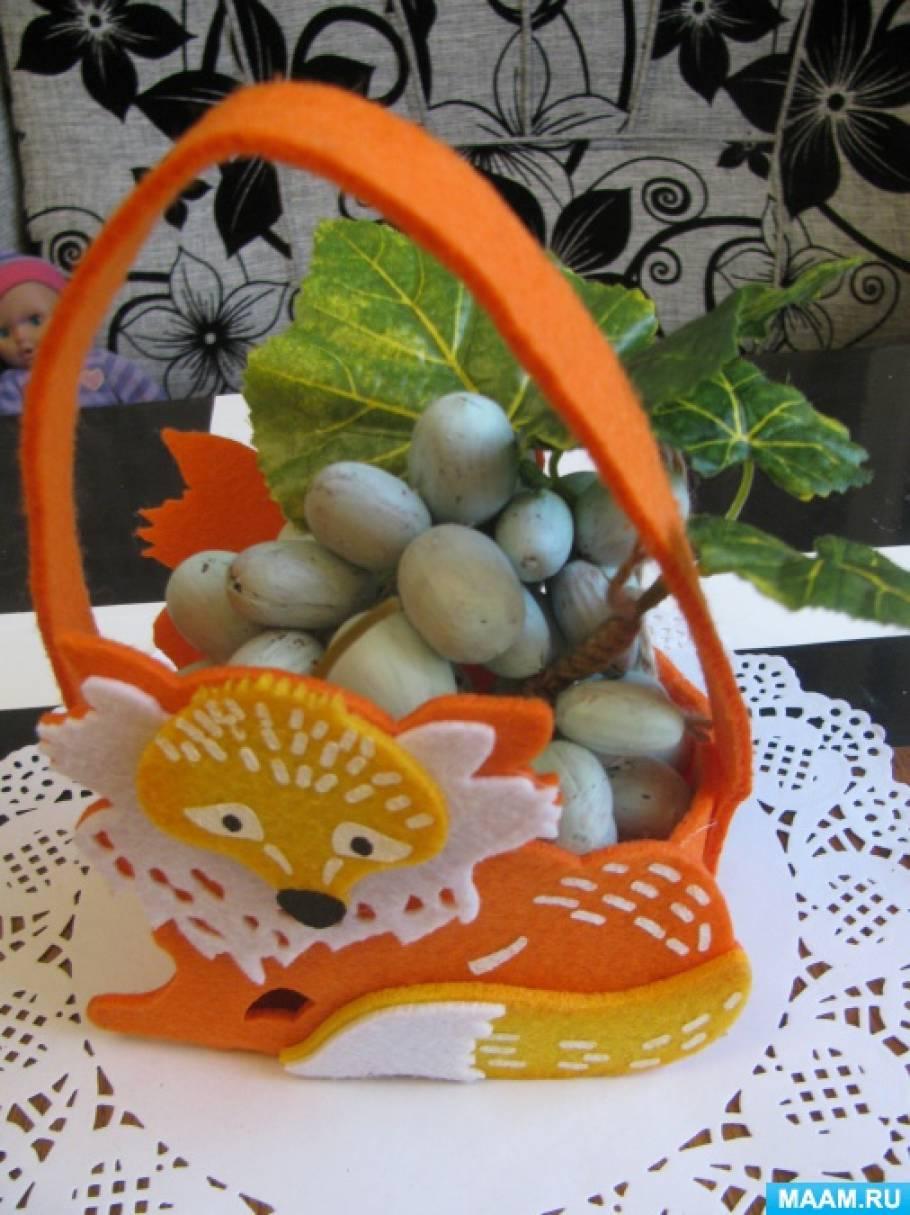 Лисичкин виноград, поделка из природного материала (мастер-класс)