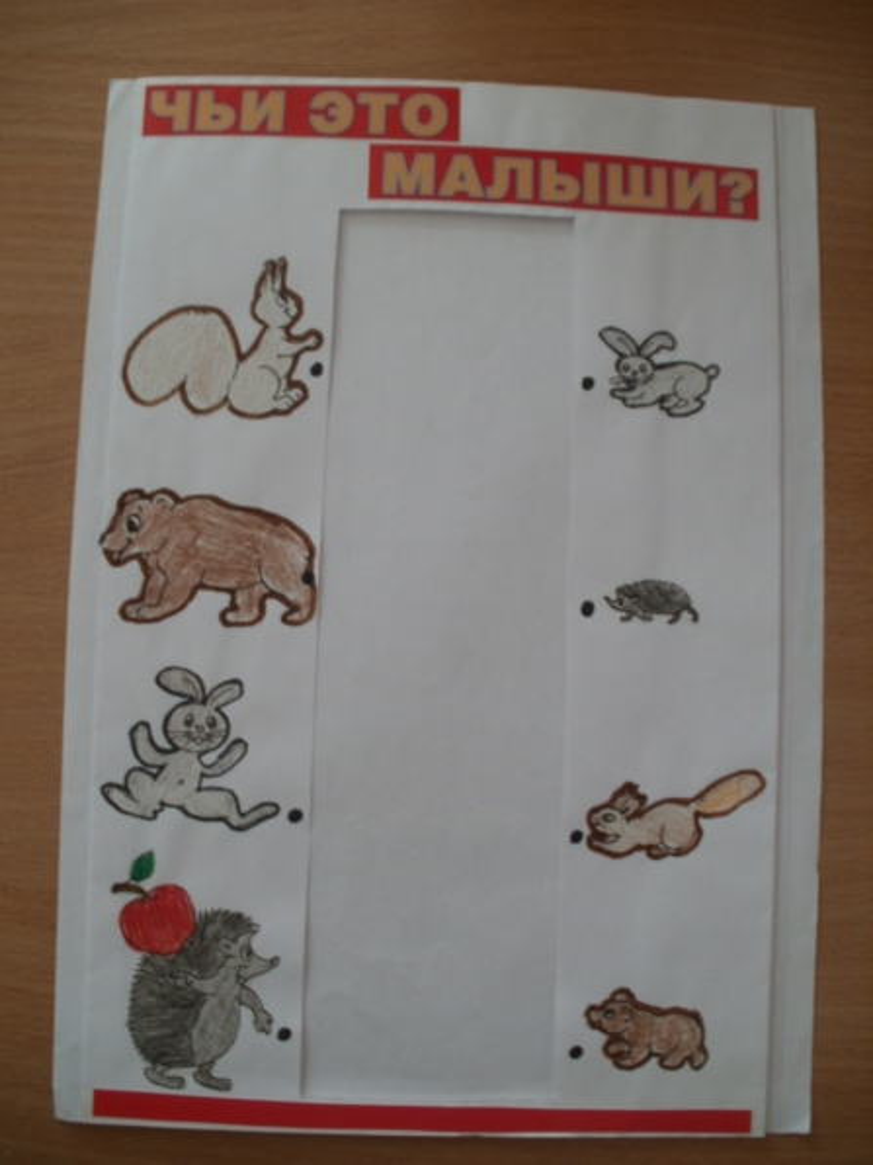 Перфокарты к экологическому проекту «Дикие и домашние животные»