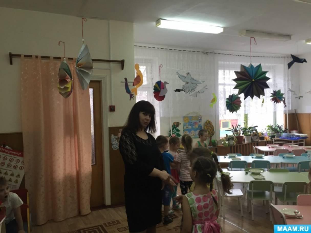 Оформление группы к весне в детском саду