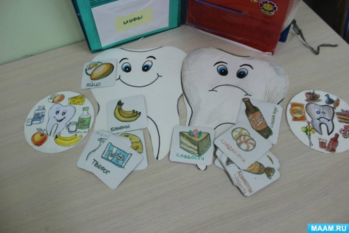 Дидактическая игра «Полезная и вредная еда для зубов» в рамках проекта «Здоровая улыбка»