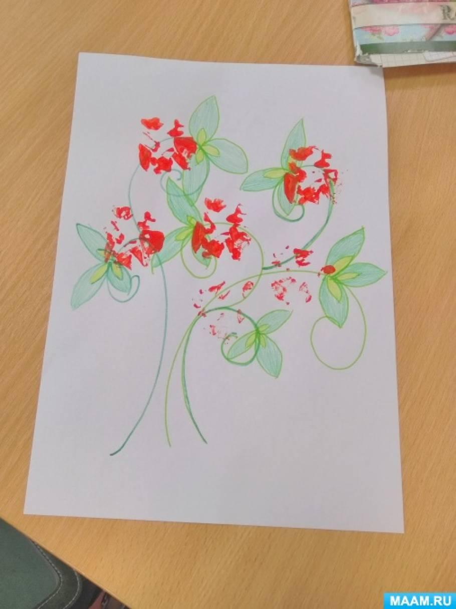 Конспект занятия по рисованию в подготовительной группе «Куст роз»