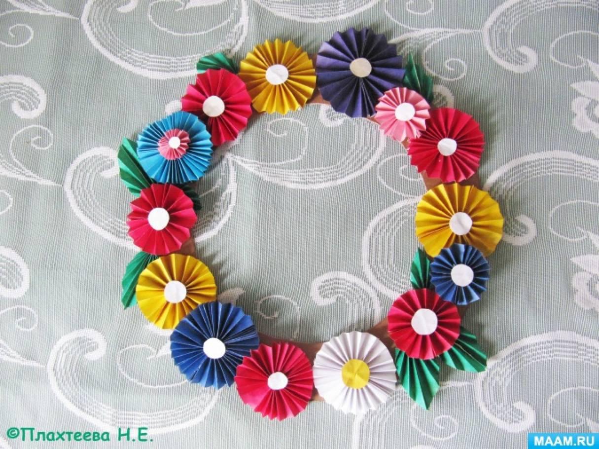 Мастер-класс изготовления венка из цветов. Элементы весеннего оформления