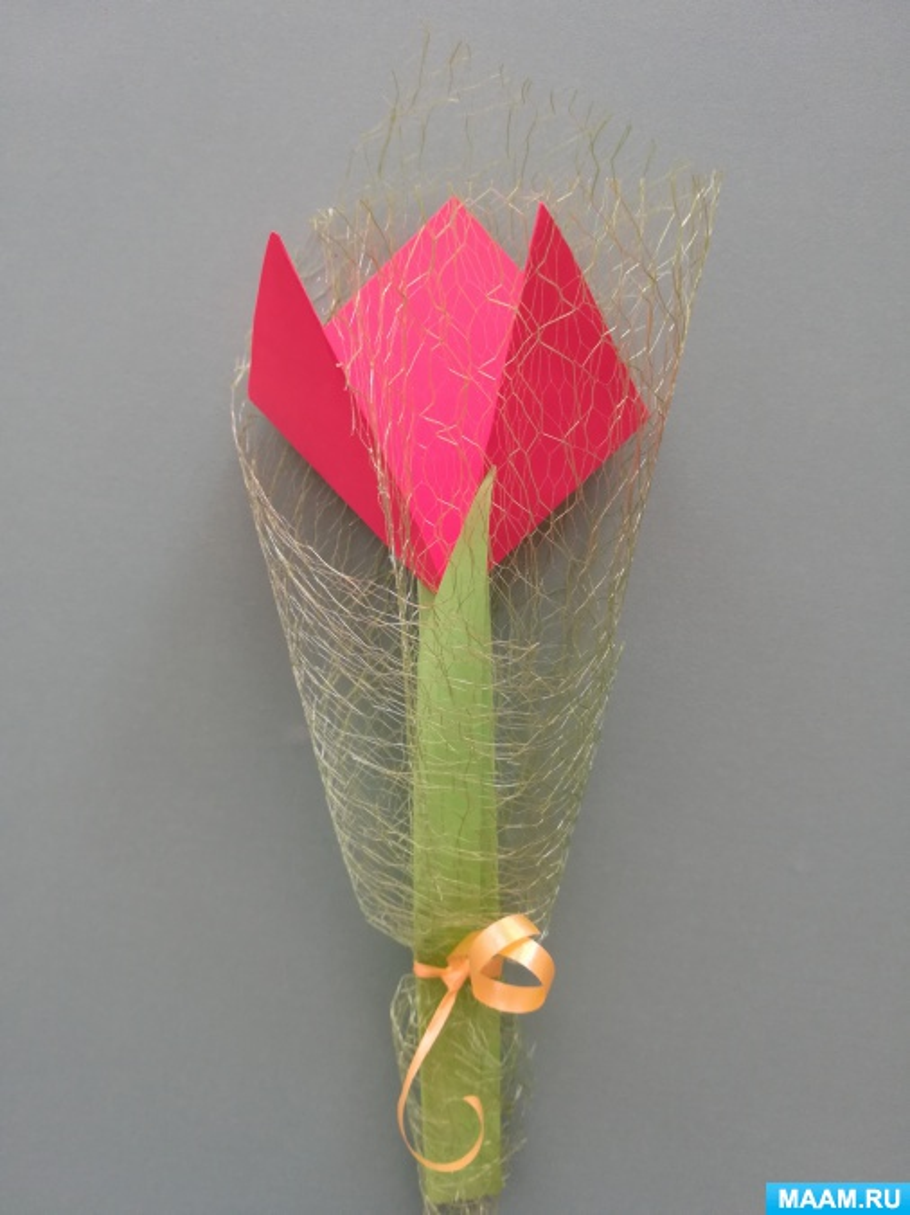 Мастер-класс «Тюльпан из бумаги»