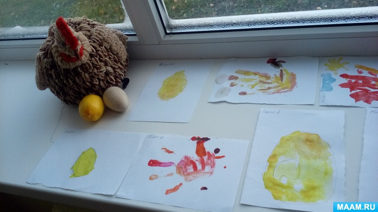 Конспект занятия по ИЗО деятельности в предшкольной разновозрастной группе по сказке «Курочка Ряба»