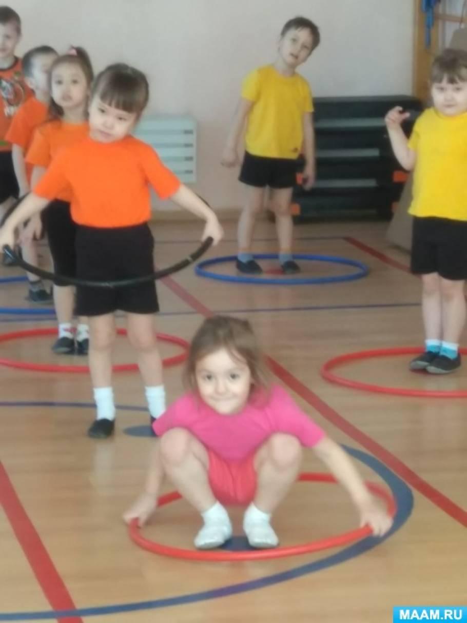 Комплекс общеразвивающего упражнения с обручем для средней группы
