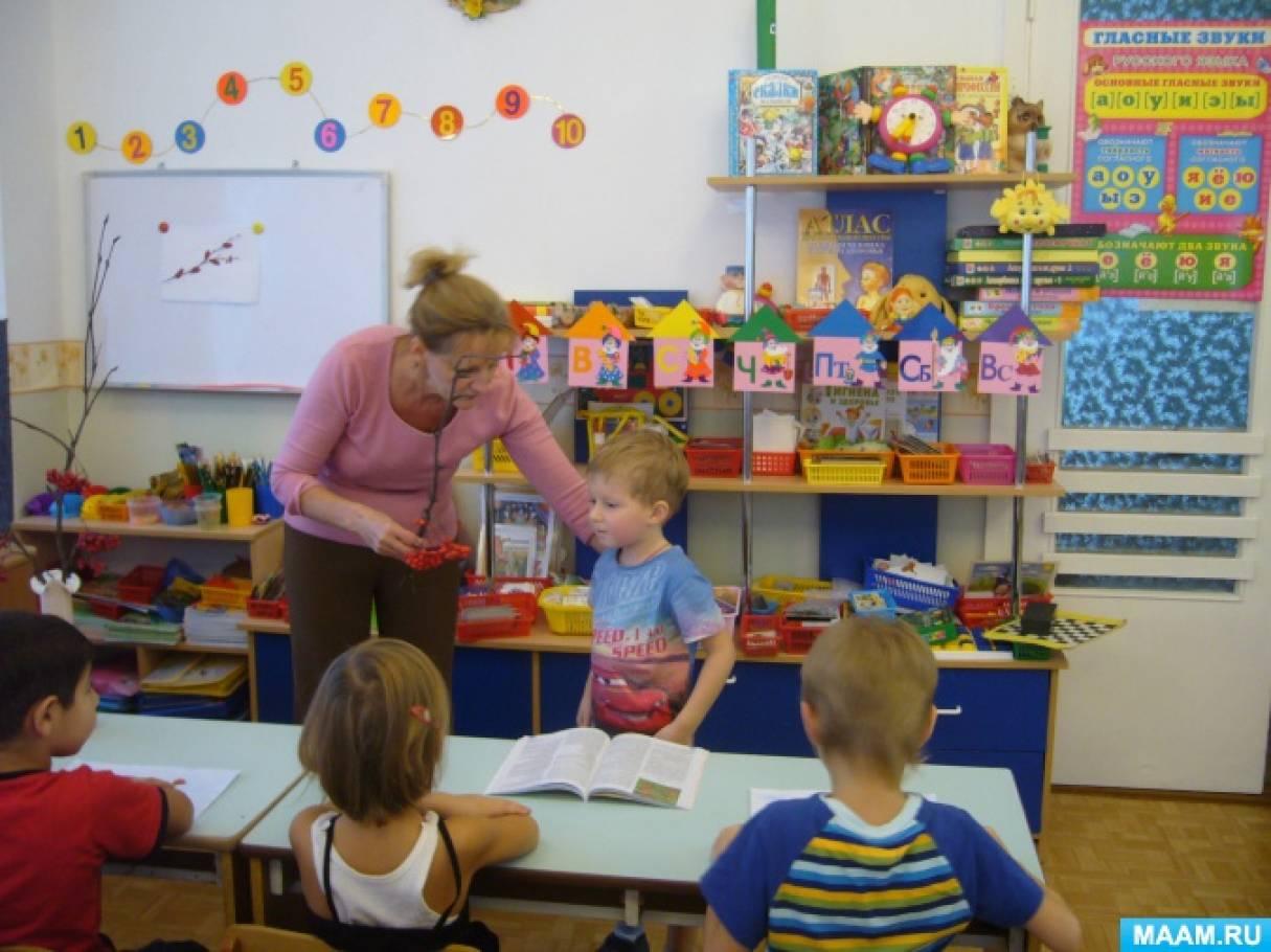 Конспект комплексного занятия для детей старшей группы «Чудо-ягода рябина»