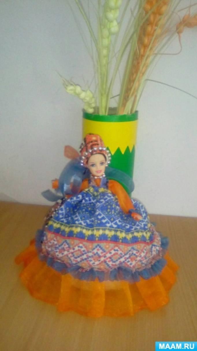 Фотоотчет «Масленичная красавица из пластиковой куклы»