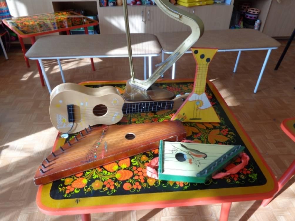 знакомство детей с гитарой