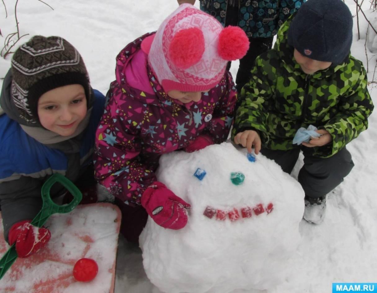 Познавательно-исследовательская деятельность детей в зимний период