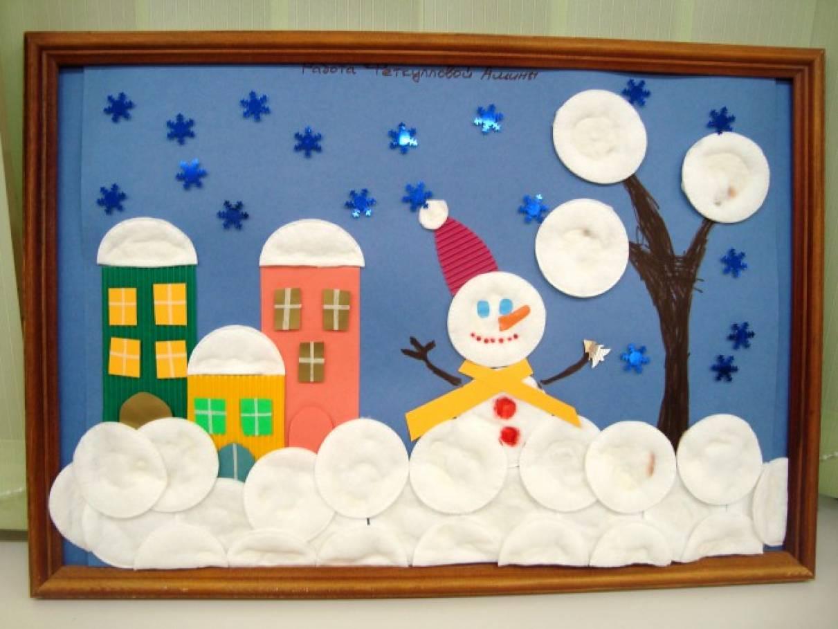 Новогодняя открытка в детский сад на выставку, дню рождения