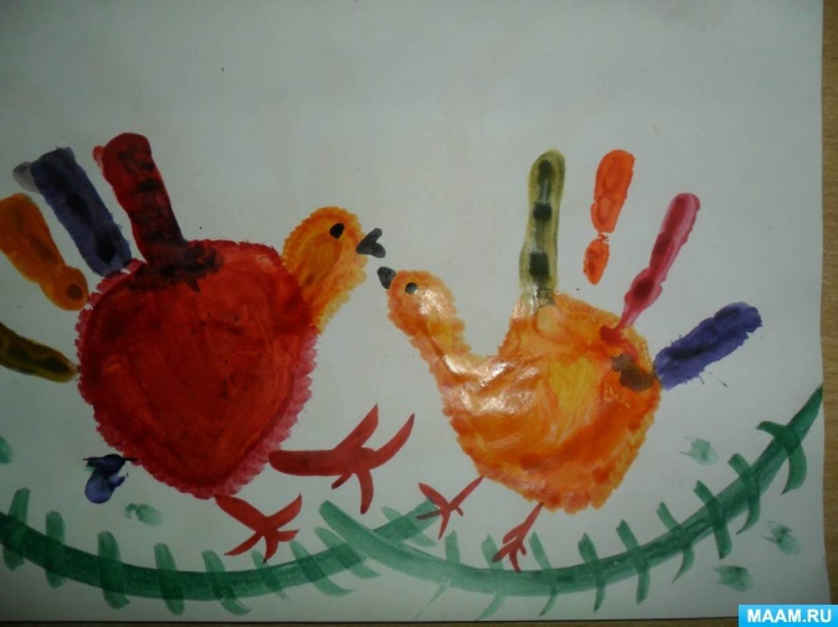 Рисуем ладошками и пальчикамисказку путаница