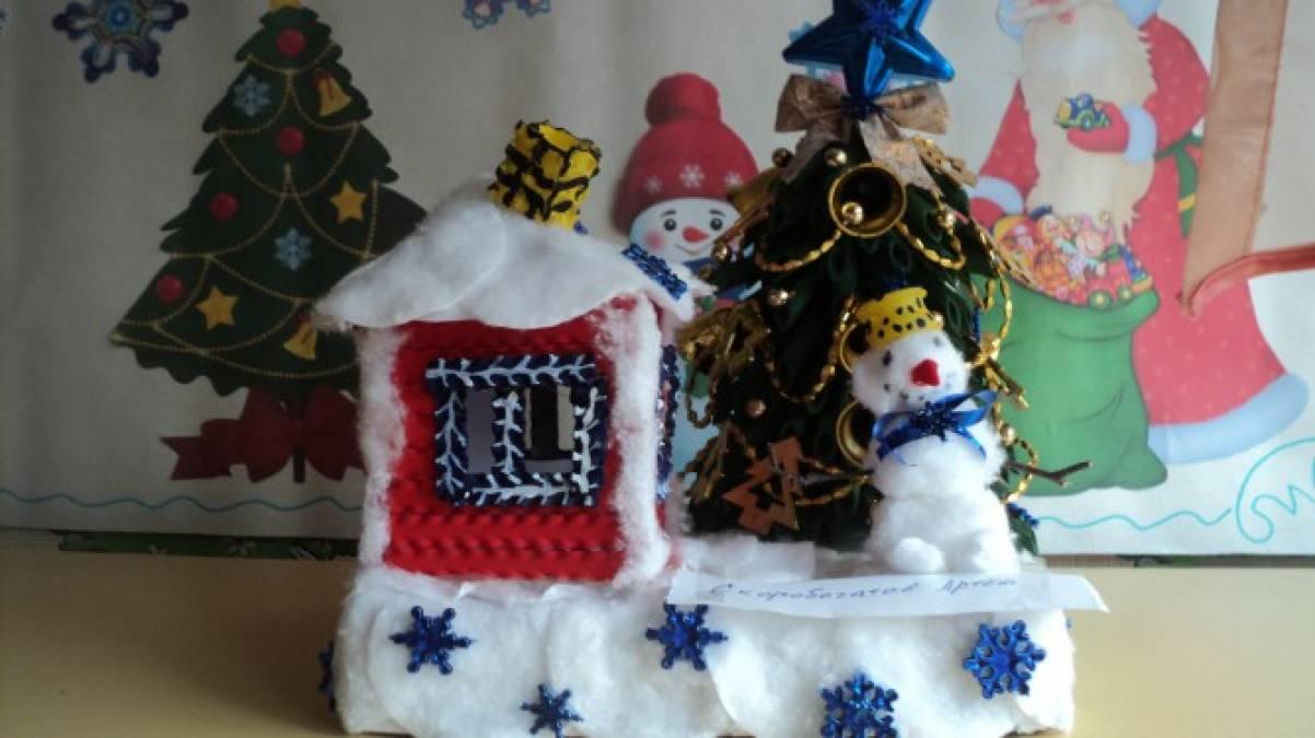 Конкурс на новогодние поделки в детском саду 776