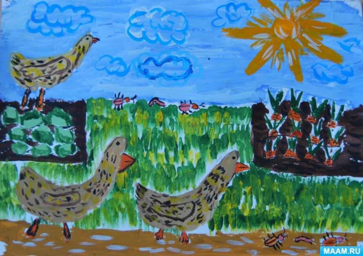 Проект «Иллюстрации к детским стихотворениям о домашних животных»