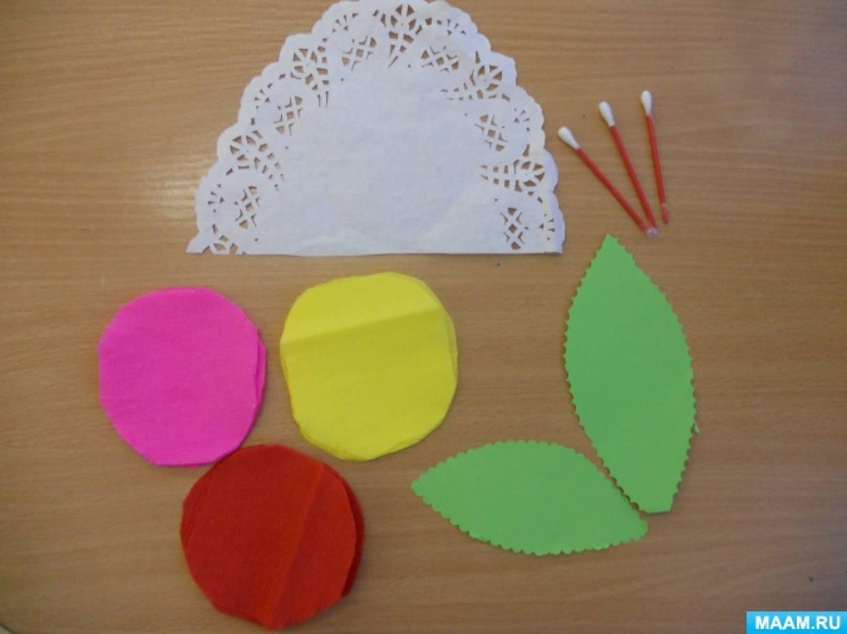 Цветы из гофрированной бумаги своими руками Мастеркласс