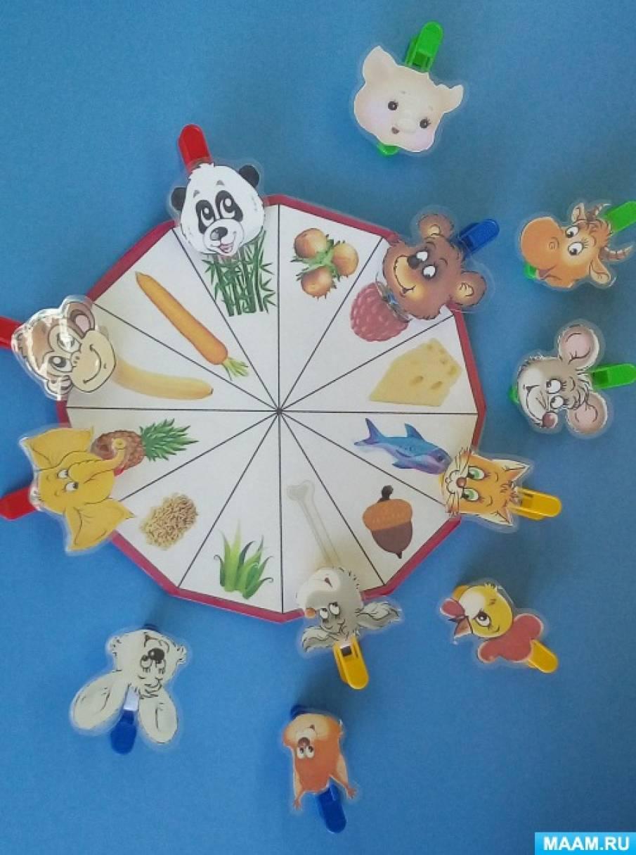 Мастер-класс по созданию дидактической игры «Кто что ест» для детей младшего дошкольного возраста