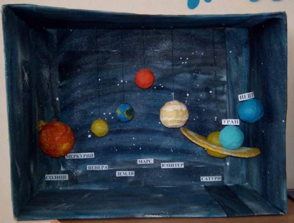Космос в коробке поделка 99
