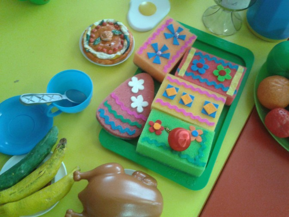 Пирожные из губок для мытья посуды своими руками