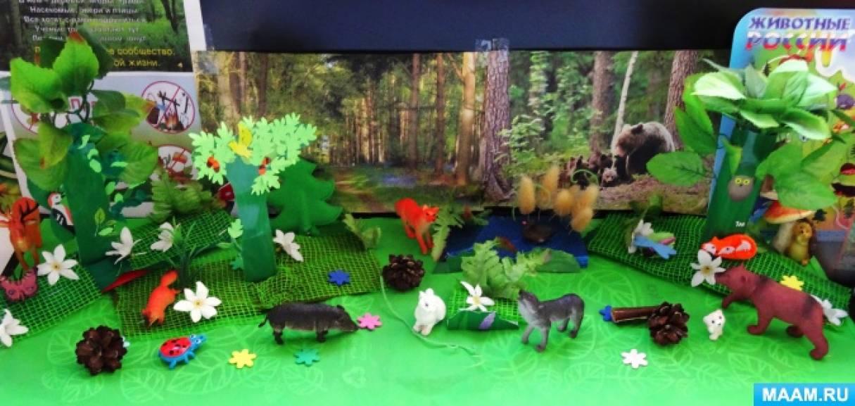 Фотоотчет о групповом проекте «Дикие животные» в младшей группе