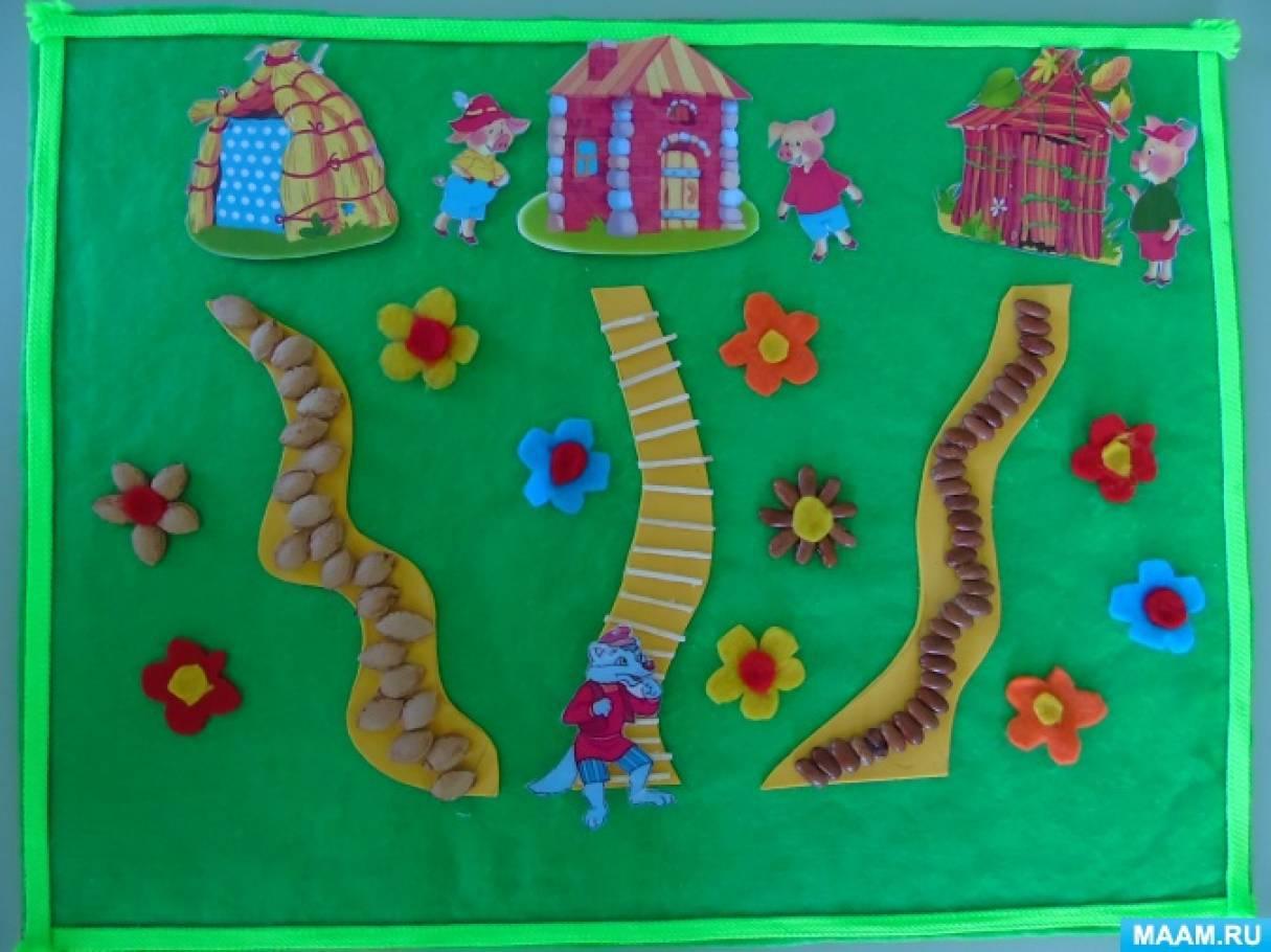 Дидактическая игра по развитию речи для детей младшего дошкольного возраста «Три поросёнка»