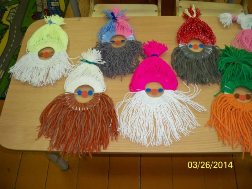 Поделки с детьми из ниток в детском саду