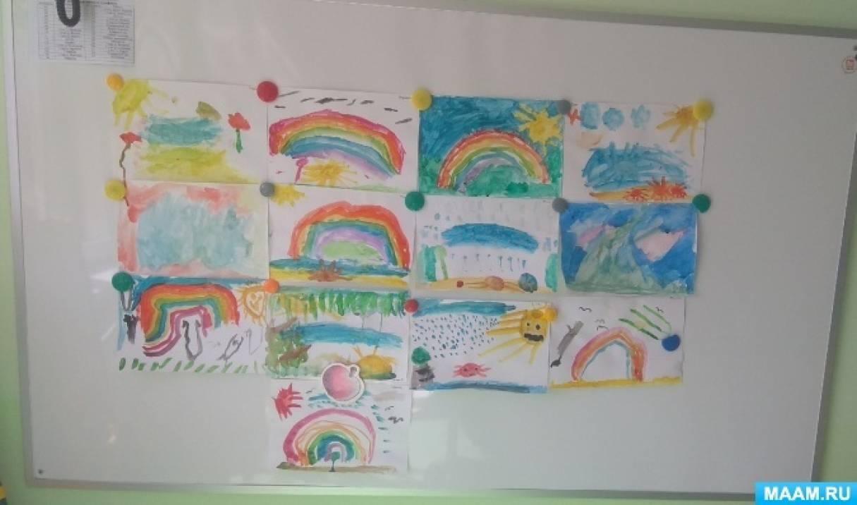 Конспект занятия по рисованию «Краски лета»