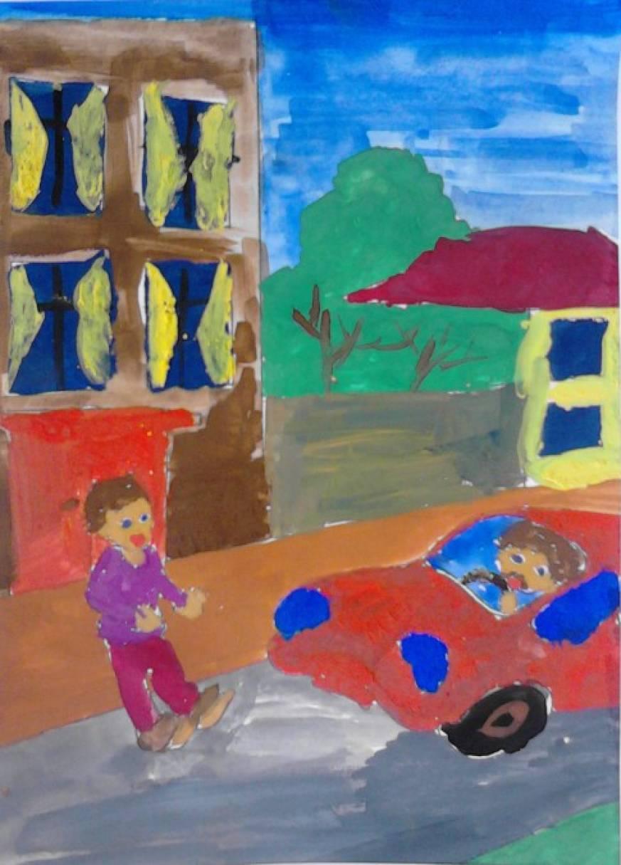 Конкурс рисунков «Ребёнок и дорога»