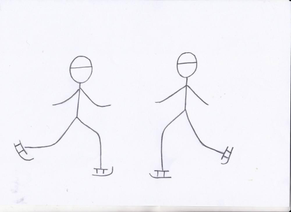 Как ребенку нарисовать человека в движении карандашом