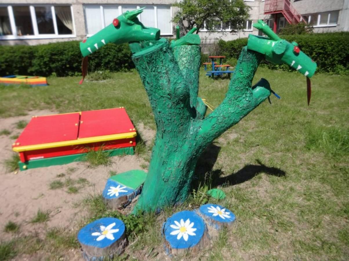 Змей горыныч для сада своими руками 219
