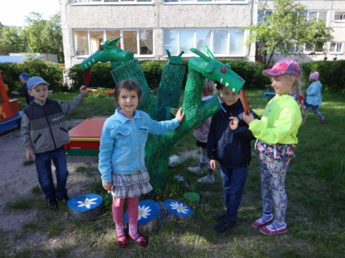 Змей горыныч для сада своими руками 410