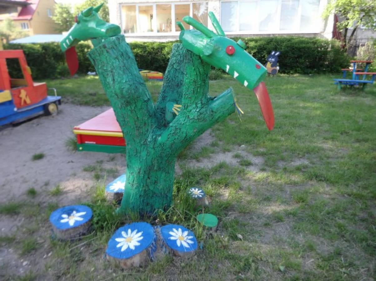 Змей горыныч для сада своими руками 727