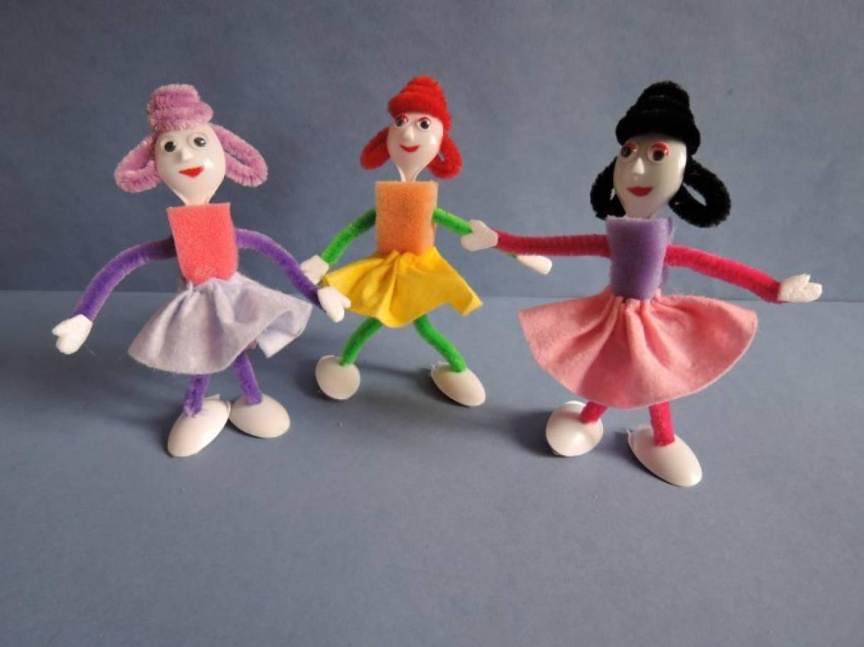 Поделки из поролона куклы