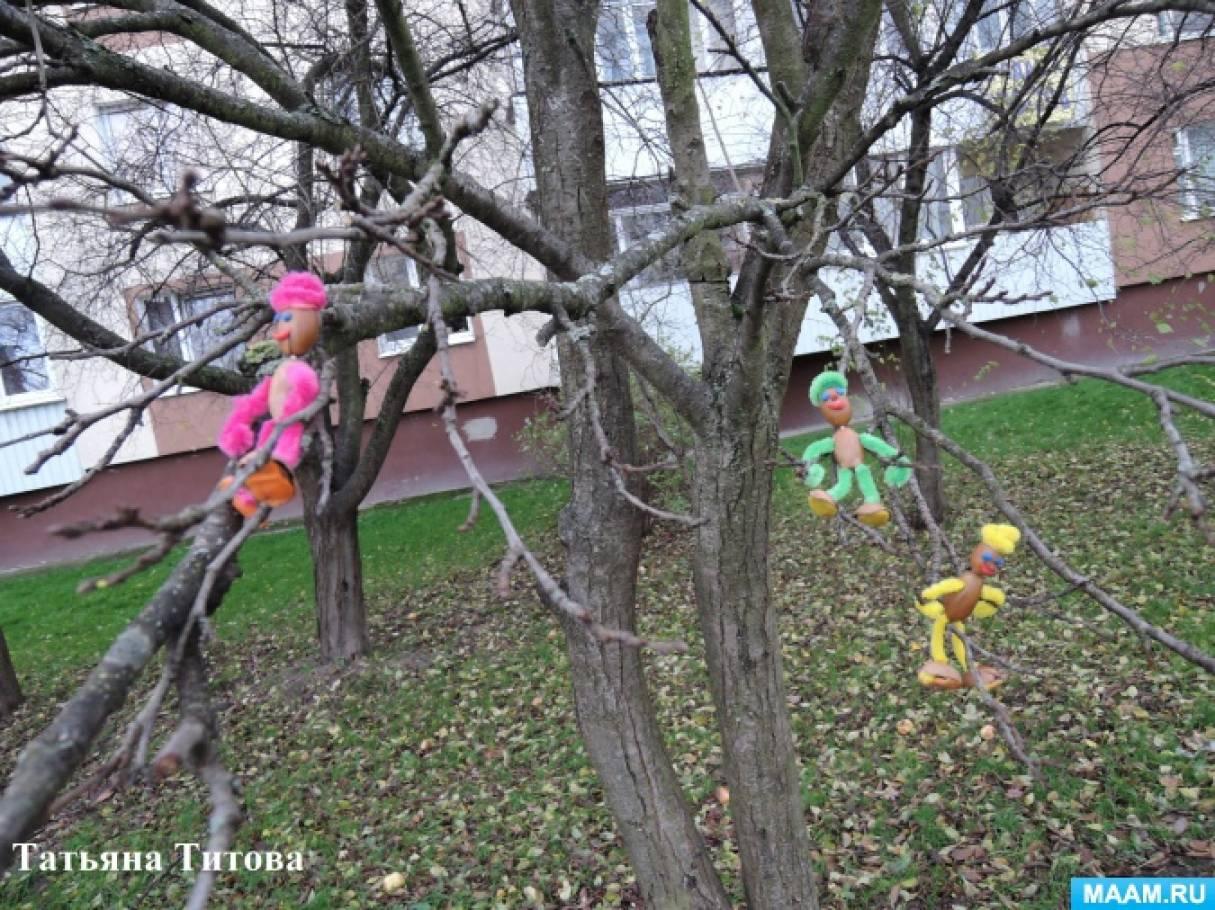 Дубовички на прогулке. Детский мастер-класс поделки из желудей и синельной проволоки для совместного творчества с родителями