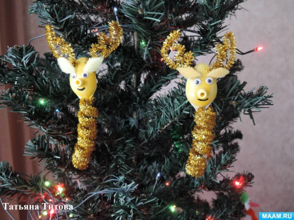 Мастер-класс «Новогодняя игрушка «Северный олень» из проволочной мишуры на основе спирали»