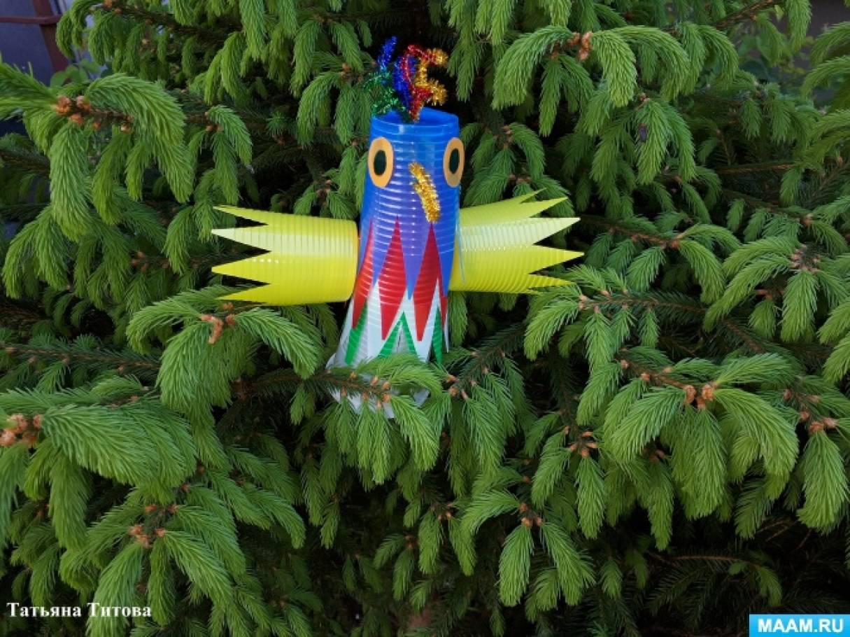 Экологический мастер-класс «Веселый попугай» из бросового материала
