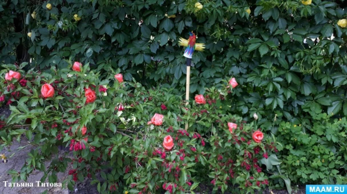 Мастер-класс «Розы из пакетов» для оформления летнего участка