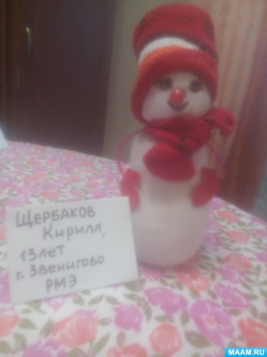 Изготовление поделки «Снеговик» из доступного материала