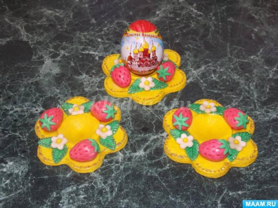 Конспект занятия по лепке из соленого теста по изготовлению поделки к Пасхе «Пасхальная тарелочка»