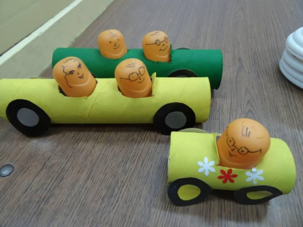Машинка своими руками из подручных материалов для детского сада 99