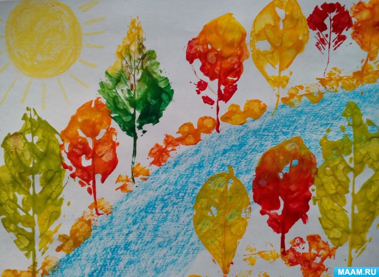 Рисование На Тему Осень В Подготовительной Группе Картинки
