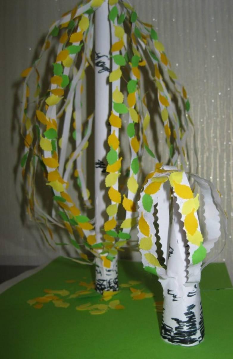 Мастер-класс по конструированию осеннего дерева из бумаги