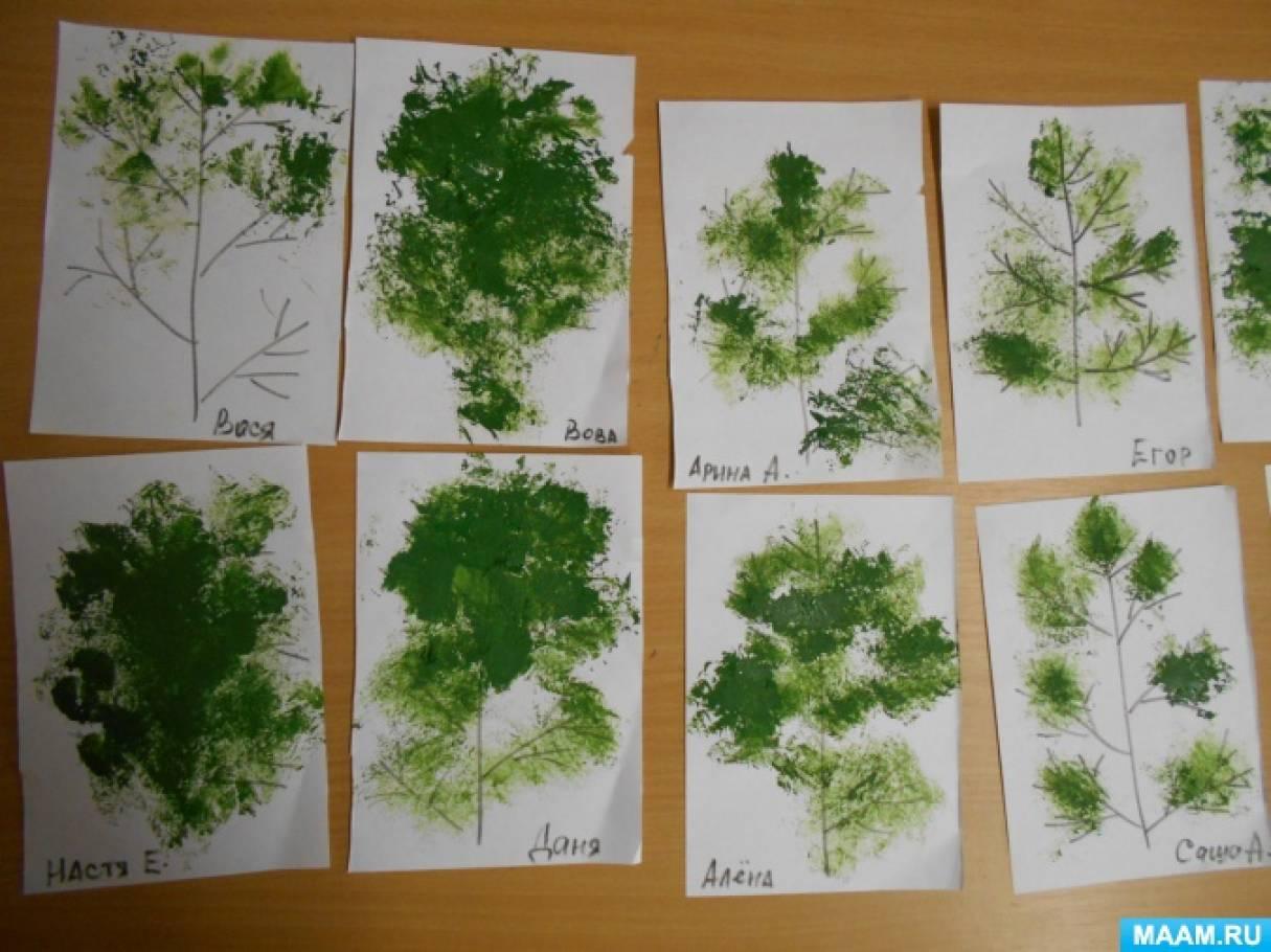 Конспект по рисованию в средней группе новогодняя открытка