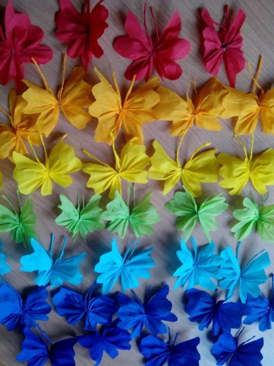 Поделки из гофрированной бумаги бабочки