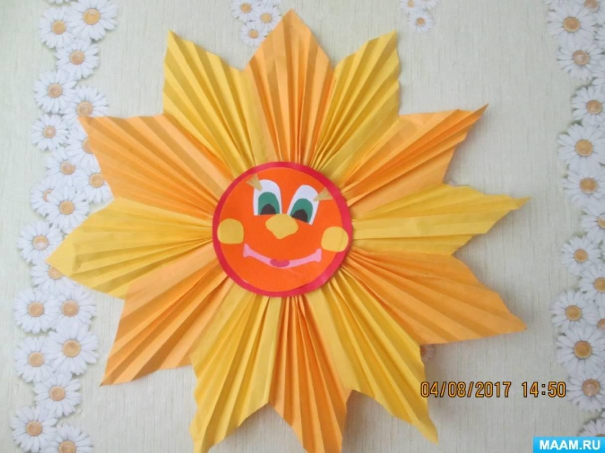 Поделки солнышко из разного материала 25