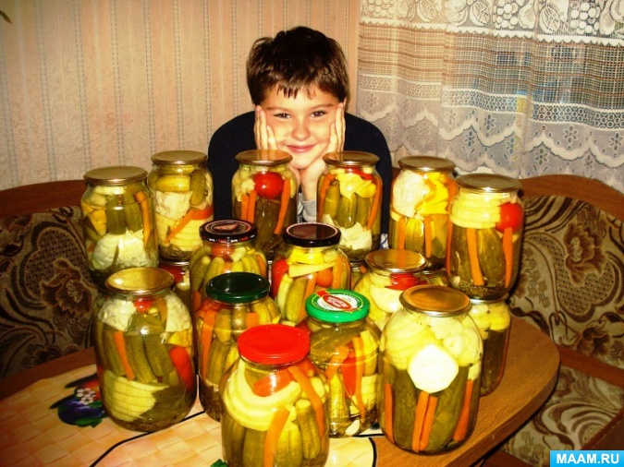 Рецепт заготовки на зиму «Огород в банке»